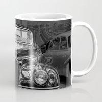 car Mugs featuring Vintage car by Veronika
