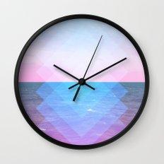 Sea Diamonds Wall Clock