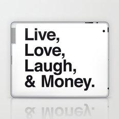 Live Love Laugh and Money Laptop & iPad Skin