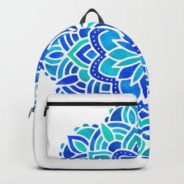 Mandala Iridescent Blue Green Backpack