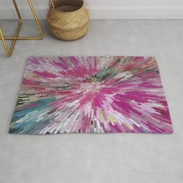 Abstract flower pattern 3 Rug