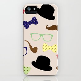 Glasses hats and Mustache iPhone Case