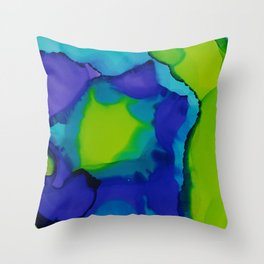 Purple and green dreams Throw Pillow