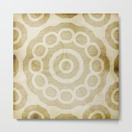 Rivet pattern on stained paper Metal Print