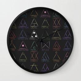 Glyphs Wall Clock