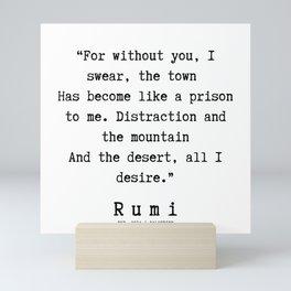 88 | Rumi Quotes | 190221 Mini Art Print