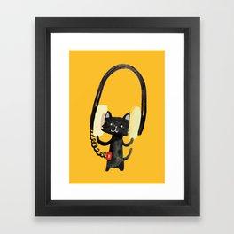 I Love Huge Headphone Framed Art Print