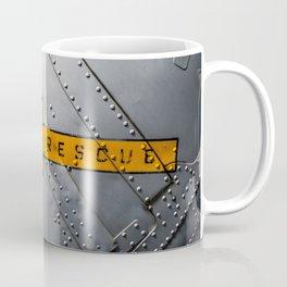 Airplane Metal Rescue Sign Coffee Mug
