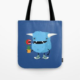Monster and his pet plant carnivore Tote Bag
