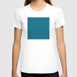 Blue (Bleu) Tres Petit Geometric Pattern T-shirt