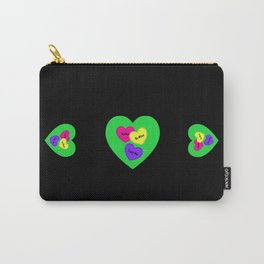Be Mine Candy Heart Valentine Carry-All Pouch