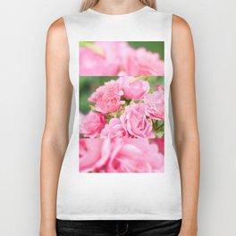Beautiful pink roses bunch Biker Tank