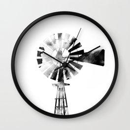 Windmill 2 #blackandwhite Wall Clock