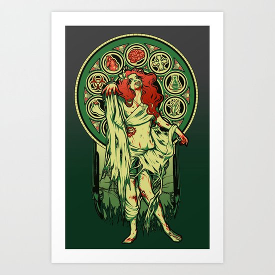 Zombie Nouveau Art Print