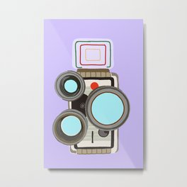 8mm film camera Metal Print
