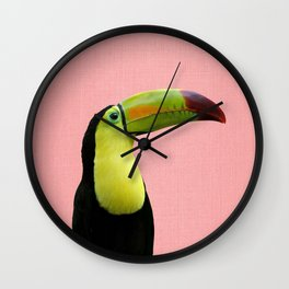 Toucan Bird - Pink Wall Clock