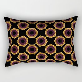 Abstract pattern of lines on black background. Geometric forms. Modern Art. Rectangular Pillow