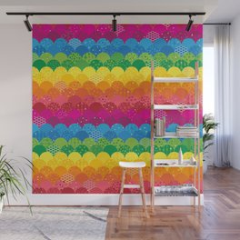 Waves of Rainbows Wall Mural