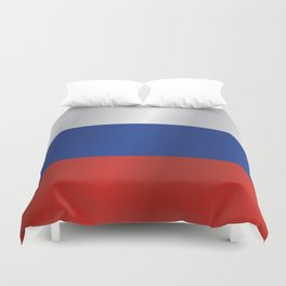 Flag of Russia Duvet Cover