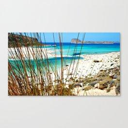 Home is where the beach is. Canvas Print