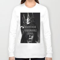 crown Long Sleeve T-shirts featuring Crown by I Love Decor