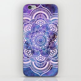 Galaxy Mandala Purple Lavender Blue iPhone Skin