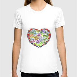 flowers in the heart ( https://society6.com/totalflora/collection ) T-shirt