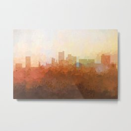 Lubbock, Texas Skyline - In the Clouds Metal Print