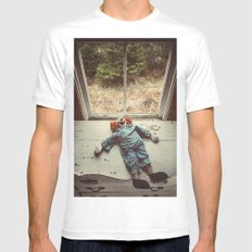 My Friend the Clown Mens Fitted Tee SMALL White