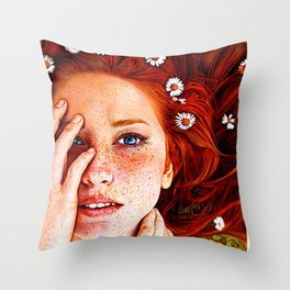 Quintessentially Redhead - Ballpoint Pen Throw Pillow