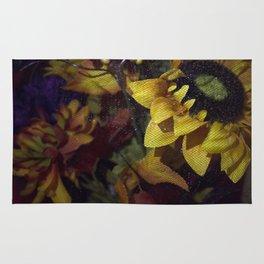 Flowers Behind A Veill Rug