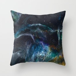 Horse Nebula Adrienne Creations Throw Pillow