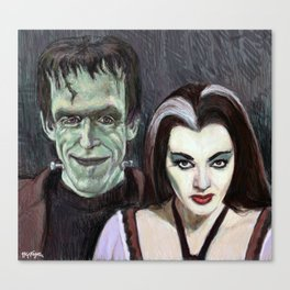 Lily and Herman Munster Canvas Print