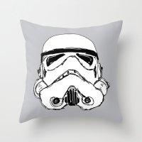 trooper Throw Pillows featuring Trooper  by Owen Lloyd