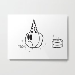Lonely Meatball Metal Print