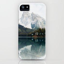 Lake in Canada Rocky Mountains Alberta British Columbia iPhone Case