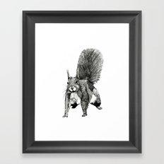Pesky Squirrel Framed Art Print
