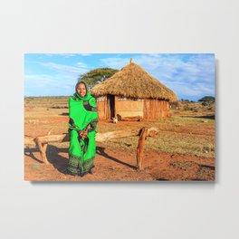 Ethiopian lady Metal Print