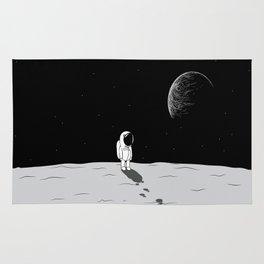 Walking Astronaut on Planet Rug