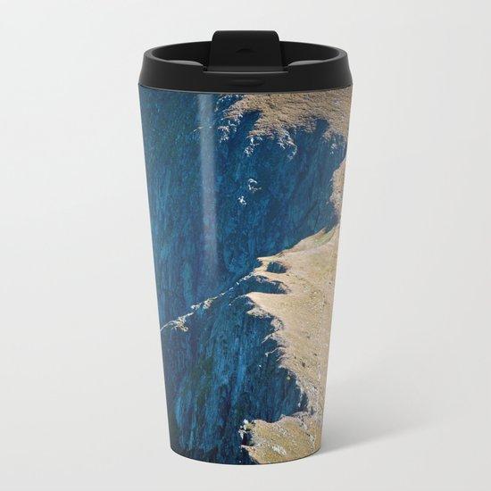 Yellow blue land Metal Travel Mug