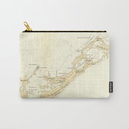 Vintage Map of Bermuda (1895) Carry-All Pouch