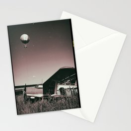 plane and hot air balloon Stationery Cards