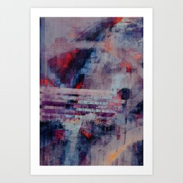 disquiet twenty two (crack of the bones) Art Print