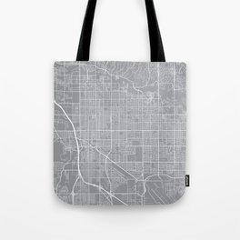 Tucson Map, Arizona USA - Pewter Tote Bag