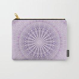 Lavender Geometric Mandala Carry-All Pouch