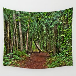 The Enchanted Way - Canadian Wilderness Forest Wall Tapestry