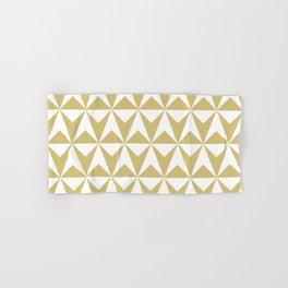 Mid Century Modern Triangle Pattern 531 Gold Hand & Bath Towel
