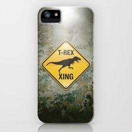T-Rex Crossing iPhone Case