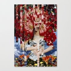 Wonderland - collage art by bedelgeuse Canvas Print