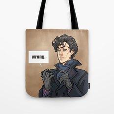 WRONG. Tote Bag